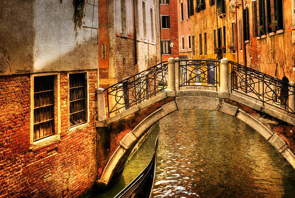 Venice Art Print featuring the photograph Bridge Ahead by Mick Burkey