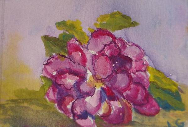 Flower Art Print featuring the painting Camellia by Lessandra Grimley