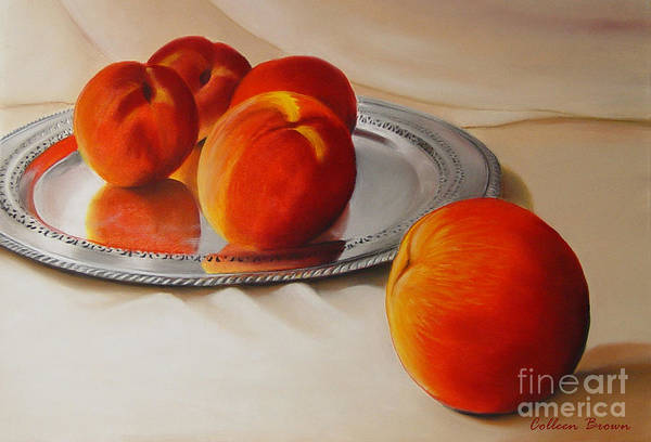 Still Life Art Print featuring the painting Cinque Pesche by Colleen Brown