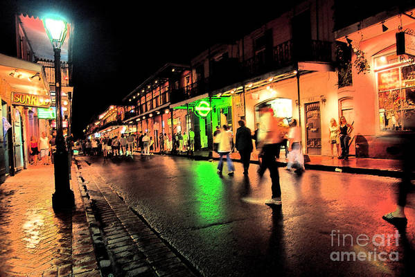 Bourbon Street Art Print featuring the photograph French Quarter New Orleans by Thomas R Fletcher