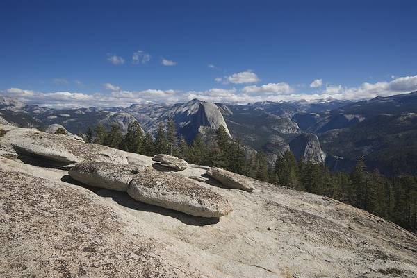 Sentinel Dome Art Print featuring the photograph Half Dome From Sentinel Dome by Chris Brewington Photography LLC