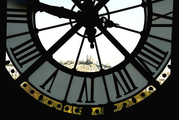 Clock Art Print featuring the photograph Paris Through The Clock by Charles Ridgway
