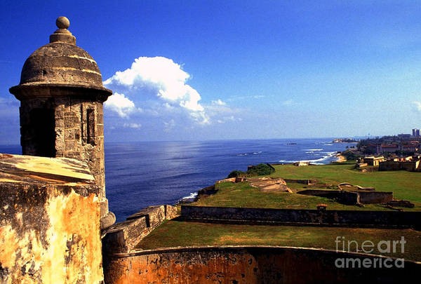 Puerto Rico Art Print featuring the photograph Sentry Box And Sea Castillo De San Cristobal by Thomas R Fletcher