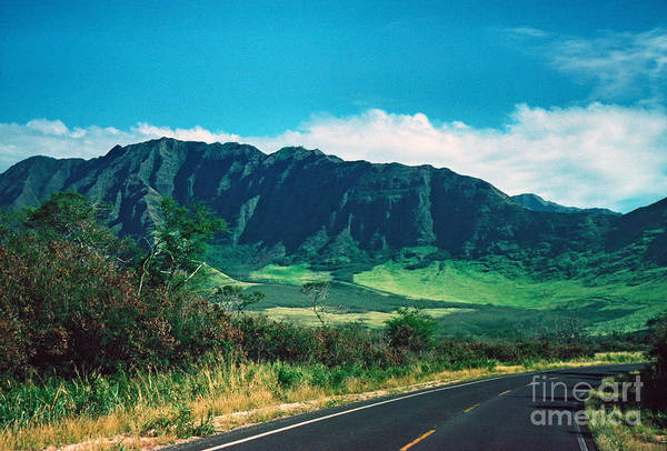 Highway Art Print featuring the photograph Waianae Mountains by Thomas R Fletcher
