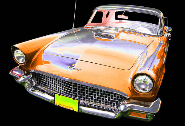 1957 Ford T-bird Art Print featuring the photograph Ford by Allan Price