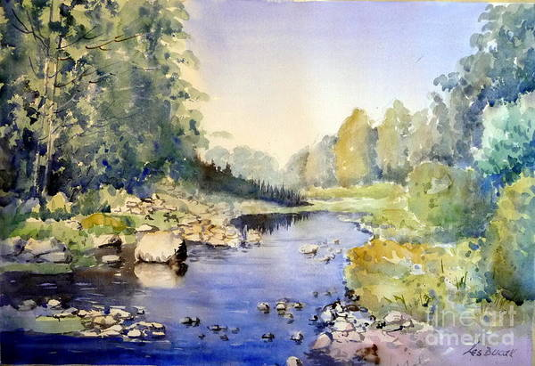 Art Print featuring the painting Dundas Valley by Les Ducak