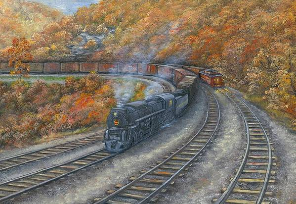 Horseshoe Autumn Art Print By Nancy Hagy