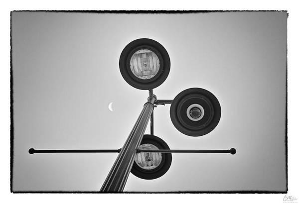 Grunge Art Print featuring the photograph Lunar Lamp - Art Unexpected by Tom Mc Nemar