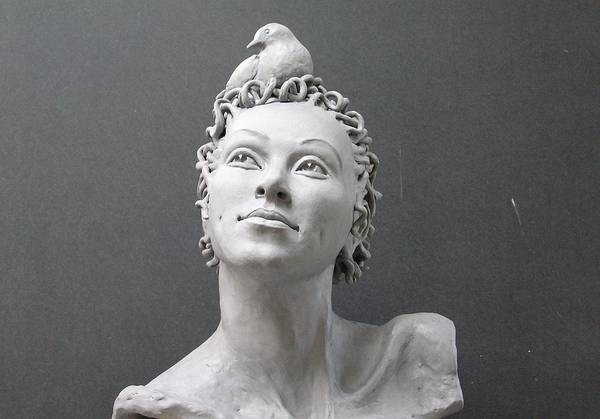 Sculpture Art Print featuring the photograph Janet by J Alex Potter