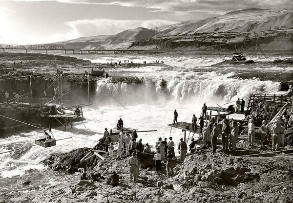 Art Print featuring the photograph Celilo Falls by Unknown
