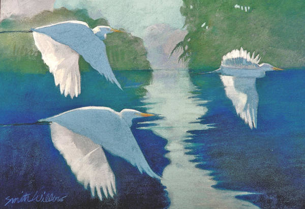 Birds Art Print featuring the painting Dawn Patrol by Neal Smith-Willow