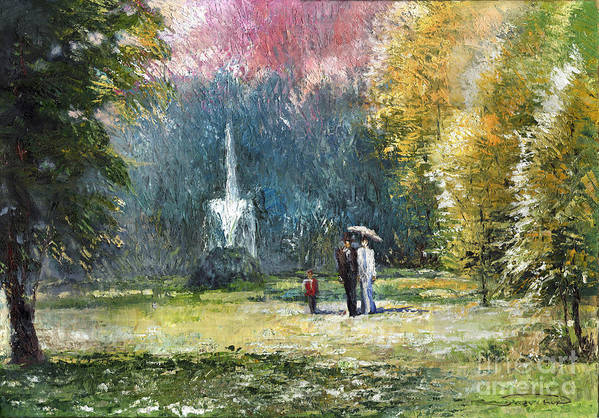 Oil Art Print featuring the painting Germany Baden-baden by Yuriy Shevchuk
