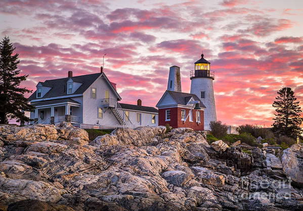 Attraction Art Print featuring the photograph Pemaquid Point Lighthouse by Benjamin Williamson