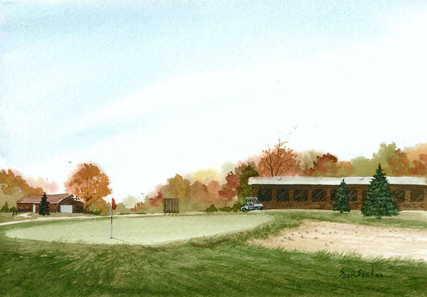Golf Art Print featuring the painting Tom's Golf Course by Sean Seal
