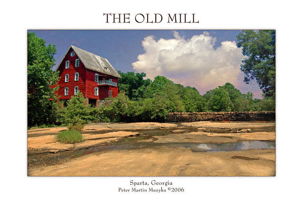 Landscape Art Print featuring the photograph The Old Mill by Peter Muzyka