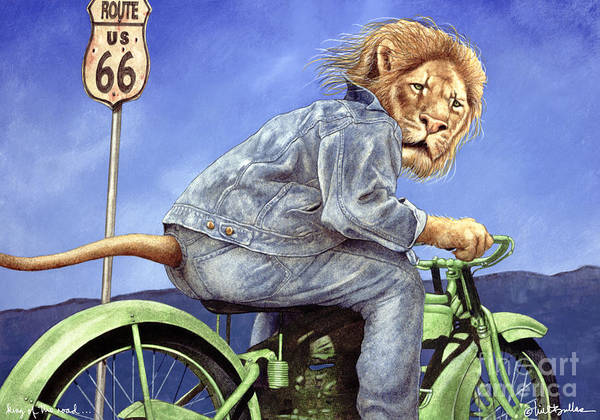 Will Bullas Art Print featuring the painting King Of The Road... by Will Bullas