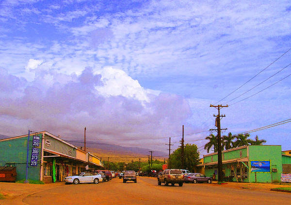 Kaunakakai Art Print featuring the photograph Main Street Kaunakakai by James Temple
