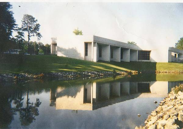 Archistructure Art Print featuring the photograph The Mariner's Museum On Lake Maury by Anne-Elizabeth Whiteway
