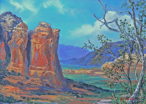 Famous Art Print featuring the painting Coffeepot Rock by Gracia Molloy
