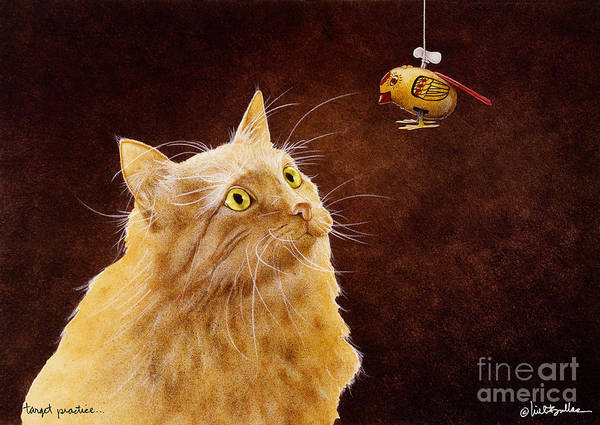 Will Bullas Art Print featuring the painting Target Practice... by Will Bullas
