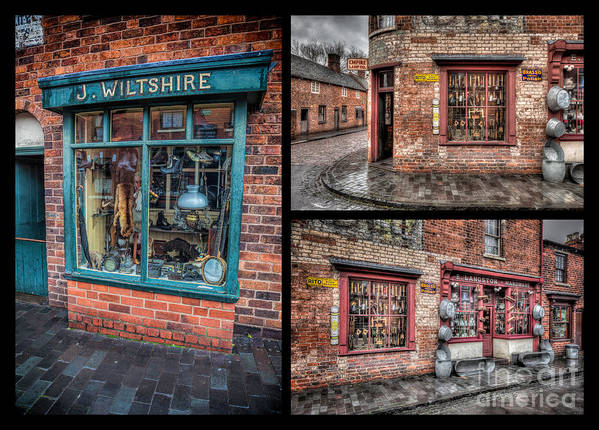 1840 Art Print featuring the photograph Victorian Shops by Adrian Evans