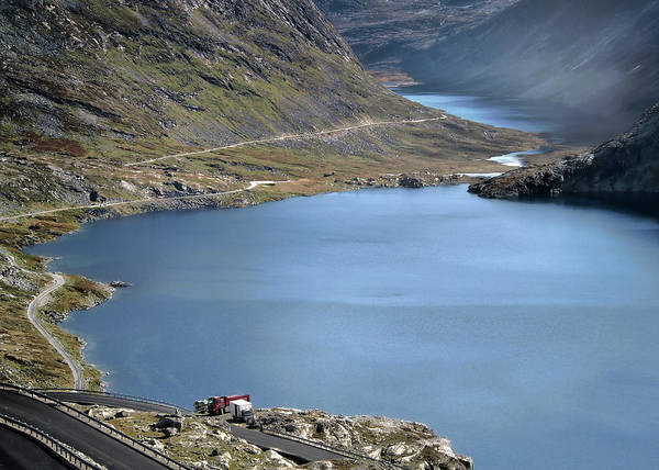 Lake Djupvatnet Art Print featuring the photograph Glacial Lake by Jim Hill