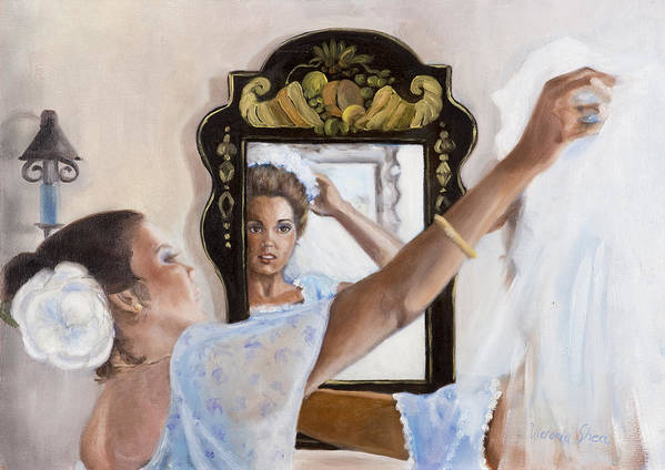 Portrait Art Print featuring the painting Before The Ceremony by Victoria Shea