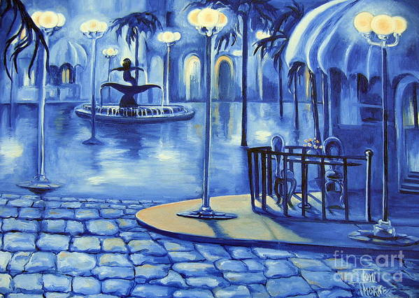 Painting Art Print featuring the painting Blue Ice by Toni Thorne