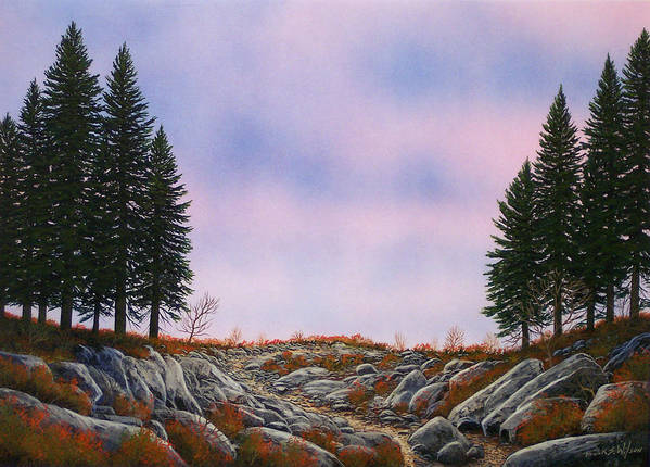 Landscape Art Print featuring the painting Dawn Pacific Crest Trail by Frank Wilson