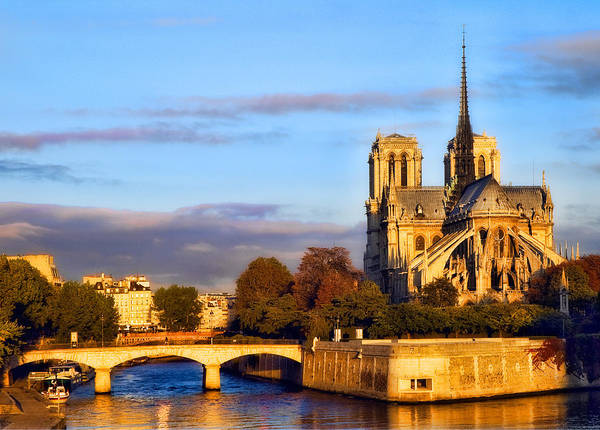 Notre Dame Art Print featuring the photograph Notre Dame by Mick Burkey