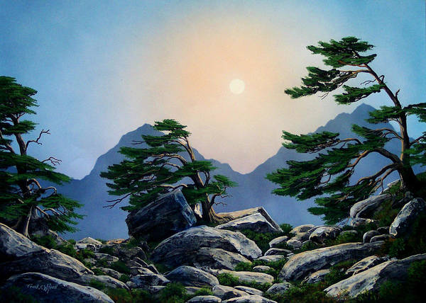 Timberline Guardians Art Print featuring the painting Timberline Guardians by Frank Wilson