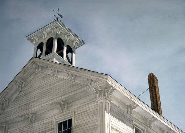 Landscape Art Print featuring the painting Silenced Bell by Tom Wooldridge