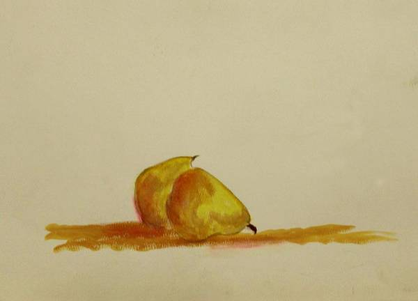 Fruit Art Print featuring the painting Anjou Pears by Michela Akers