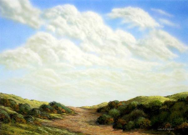 Landscape Art Print featuring the painting Clouds Of Spring by Frank Wilson