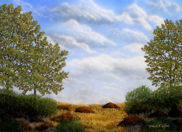 Landscape Art Print featuring the painting Foothills Afternoon by Frank Wilson
