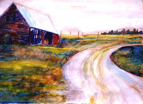Barn Art Print featuring the painting Freedman Farm by Joyce Kanyuk