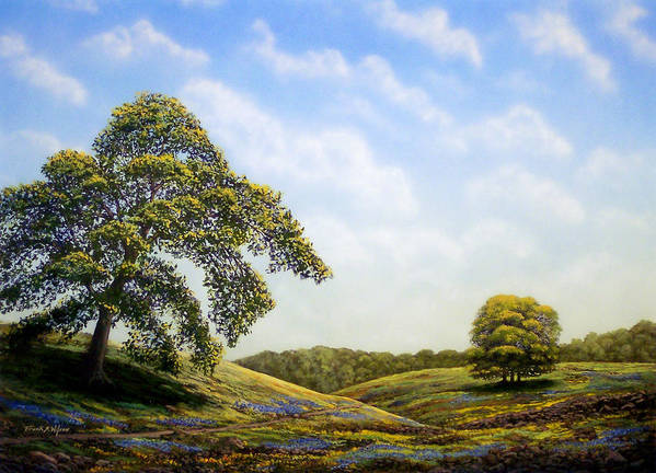 Landscape Art Print featuring the painting In Bloom by Frank Wilson