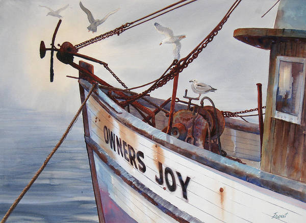 Rust Stained Boat Art Print featuring the painting Owners Joy by Don Trout