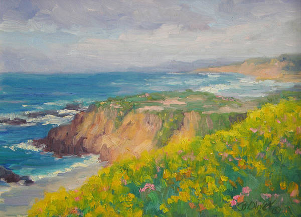 Seascape Art Print featuring the painting Pacific Sun by Bunny Oliver