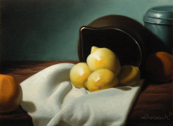 Still Life Painting Art Print featuring the painting Still Life Painting Three Beauties by Eric Bossik