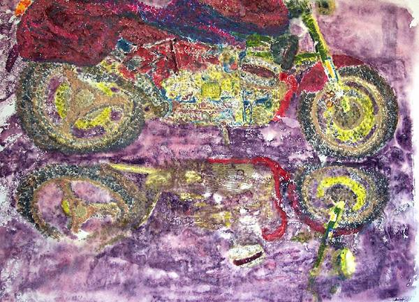 Monoprint Art Print featuring the painting The Boxer by Saundra Lee York