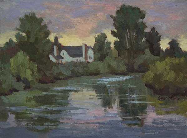 Duwamish River Art Print featuring the painting Quiet Reflections Duwamish River by Diane McClary