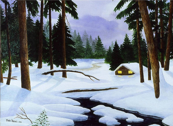 Landscape Art Print featuring the painting After The Storm by Mark Regni