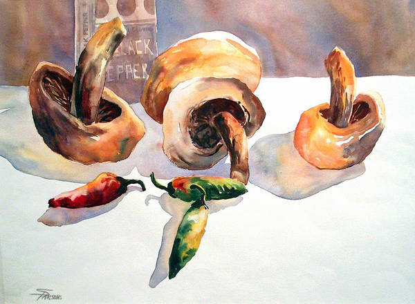 Parsons Art Print featuring the painting A Real Fungi by Sheila Parsons
