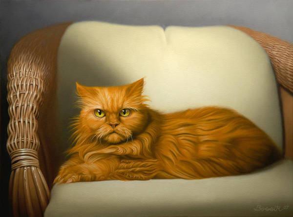 Cats Art Print featuring the painting Cat Portrait Of Tosca by Eric Bossik
