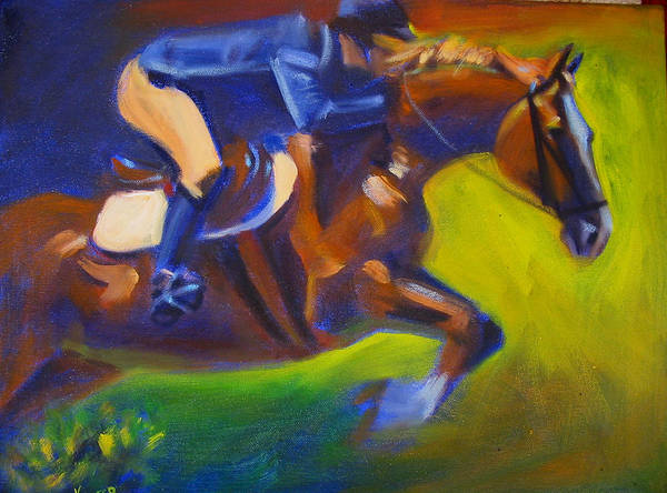 Horse Art Print featuring the painting Jumper 2 by Kaytee Esser