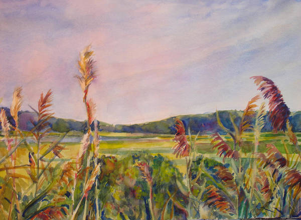 Landscape Art Print featuring the painting North Fork by Joyce Kanyuk