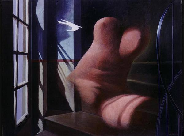 Window Art Print featuring the painting Nude Descending Staircase by James LeGros