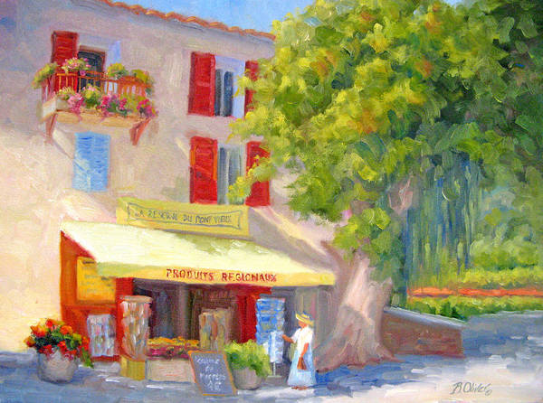 Provence Art Print featuring the painting Postcard From Provence by Bunny Oliver