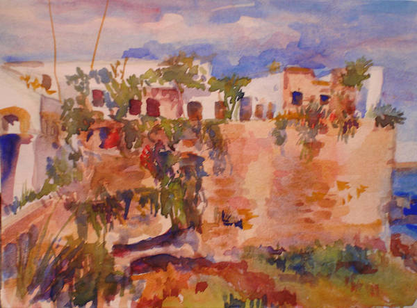 Landscape Art Print featuring the painting Casablanca by Joyce Kanyuk